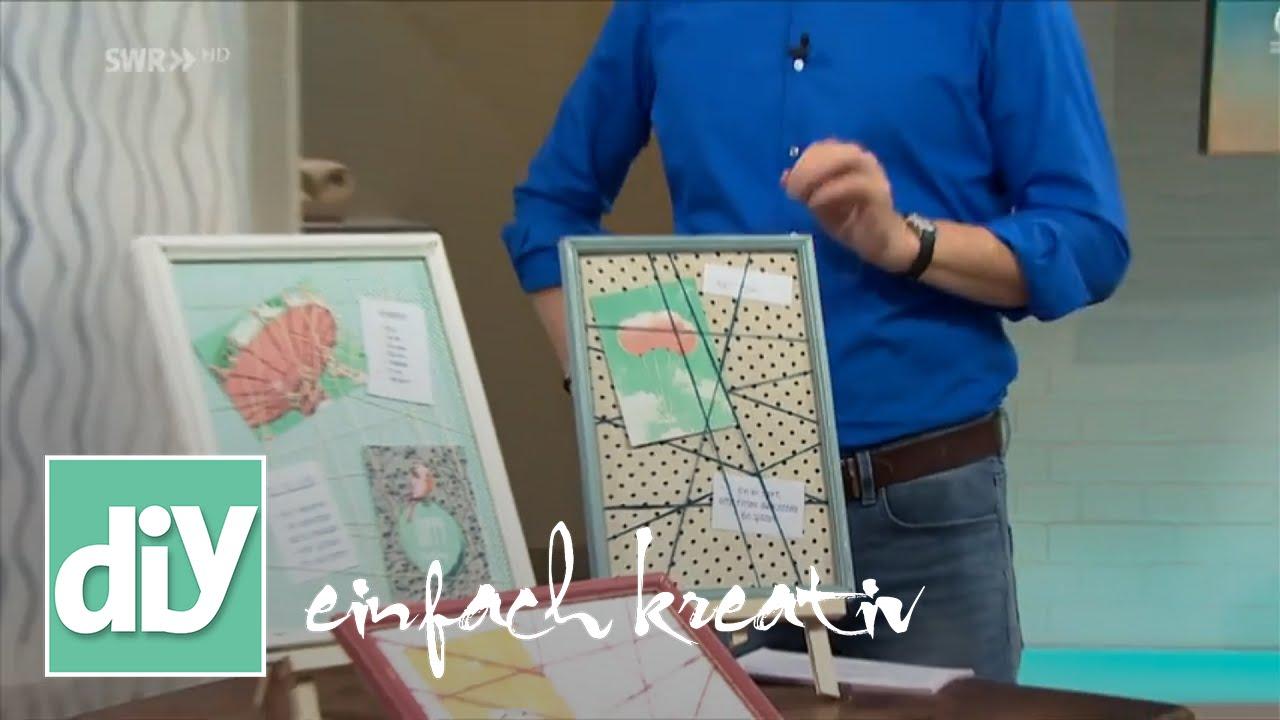 pinnwand individuell gestalten diy einfach kreativ youtube. Black Bedroom Furniture Sets. Home Design Ideas