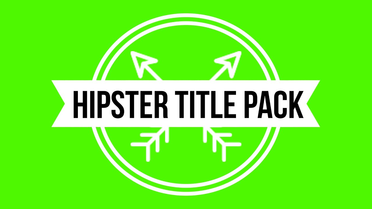 Hipster animated titles pack w green screen background youtube voltagebd Images
