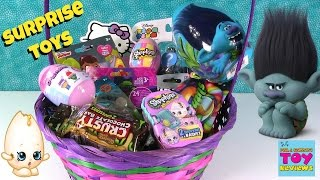 Trolls Candy Tasting Slitherio MLP Disney Easter Basket Surprise Toy Opening | PSToyReviews