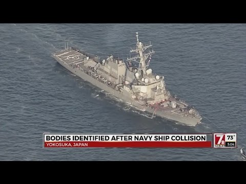 Bodies identified after Navy ship collision