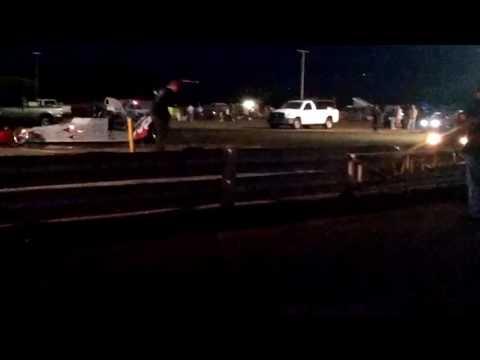 Flame dragster vs black camaro Maui raceway park