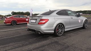 1100HP Mercedes C63 Black Series GAD vs 1080HP C63 GAD vs 900HP Porsche 9ff