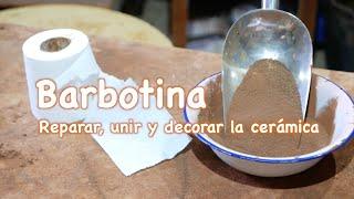 Barbotina para reparar, unir distintas partes y decorar piezas de cerámica