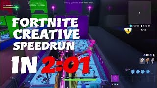 "Fortnite Creative ""The Race"" speedrun in 2:01 (map by wavvy-gurthaz)"