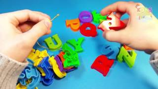 ABCD Song Game Wire Order Letters Plastic Alphabet for Kids ABCDE Abecedario Alfabet Engli