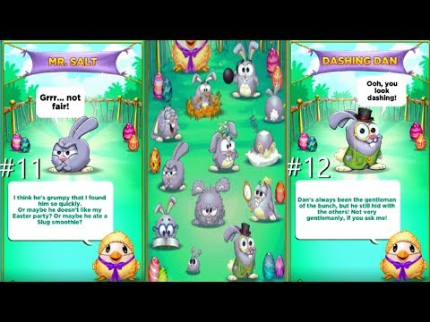 Best Fiends S2 E3 - hunting for bunny hints # 11 - 12 (12 HINTS Splendid's Easter Party) ios android