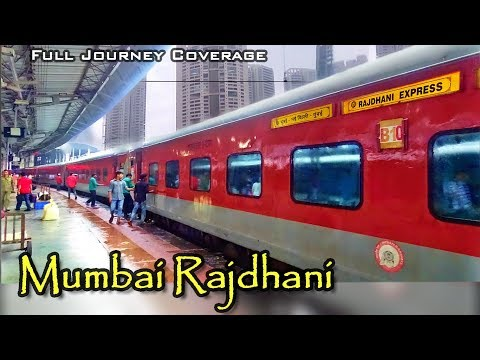 A complete Journey in India's Fastest Rajdhani Express | Food, Full Night coverage & Mumbai Suburban
