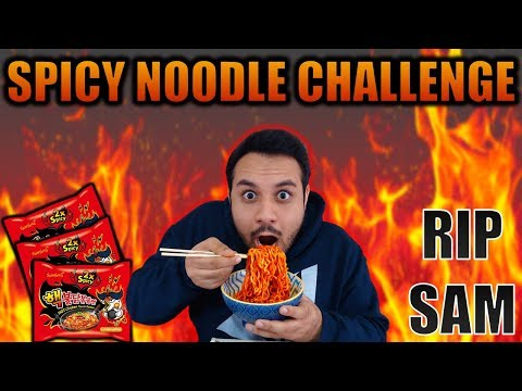 Sam Does The 2X Spicy Noodle Challenge