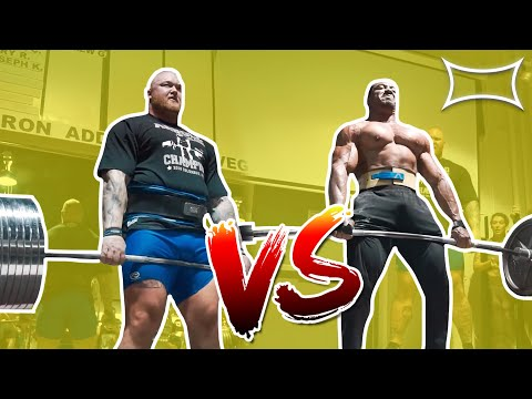 Larry Wheels vs World's Strongest Man | Deadlift Battle