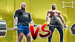 800LBS DEADLIFT BATTLE! (Hafthor Bjornsson vs Larry Wheels vs Jerry Pritchett)