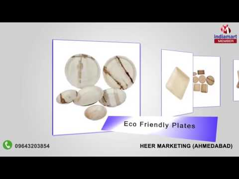 Areca Leaf Dinner Set By Heer Marketing, Ahmedabad