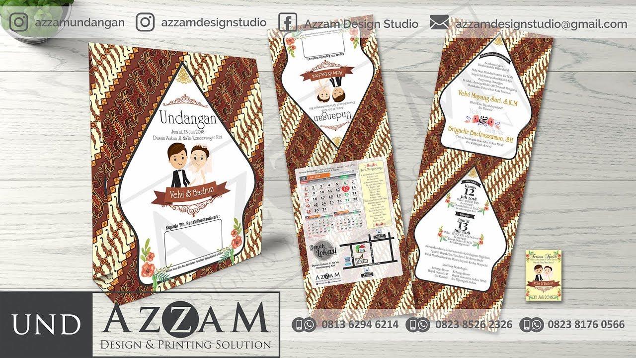 20+ Inspirasi Desain Undangan Pernikahan Motif Batik ...
