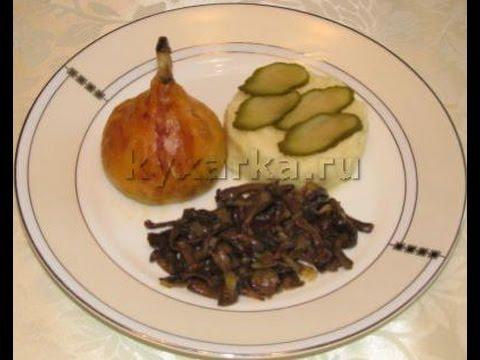 Куриные голени в тесте с грибами и сыром