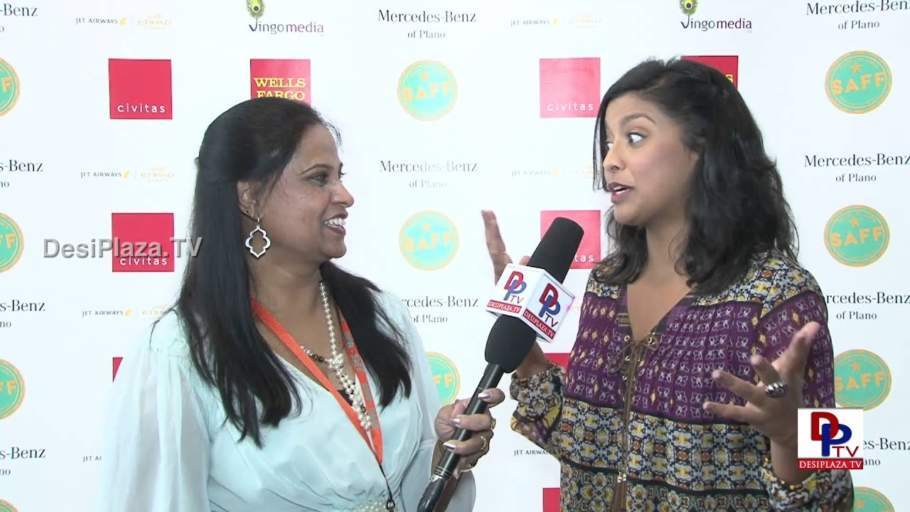 Actress Tiya Sircar of  Movie Ms.India America speaking to Desiplaza TVSouth Asian Film Festival
