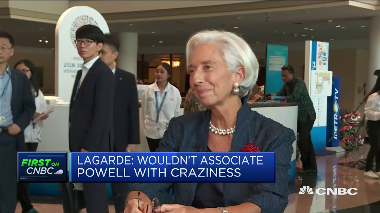 I wouldn't associate Jay Powell with craziness, Christine Lagarde says   Squawk Box Europe