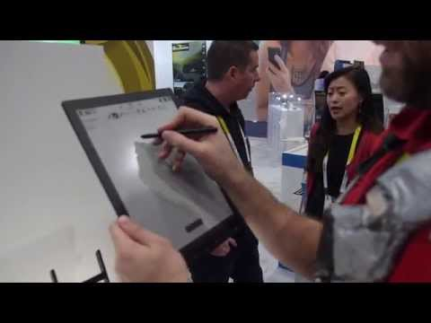 """Netronix shows 13.3"""" flexible E Ink digitizer sub-400gr i.MX6 Solo Lite Android note taker"""