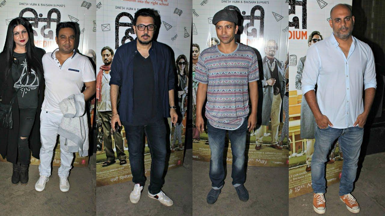 Hindi Medium Movie Screening - Ahmed Khan,  Dinesh Vijan, Deepak Dobriyal
