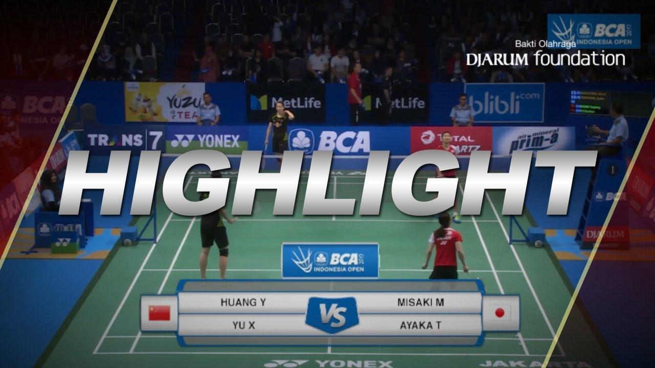 Misaki Matsutomo Ayaka Takahashi JPN VS Huang Yaqiong Yu Xiaohan
