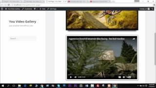 Create YouTube Video Gallery In WordPress Website - You Video Gallery Pro Plugin