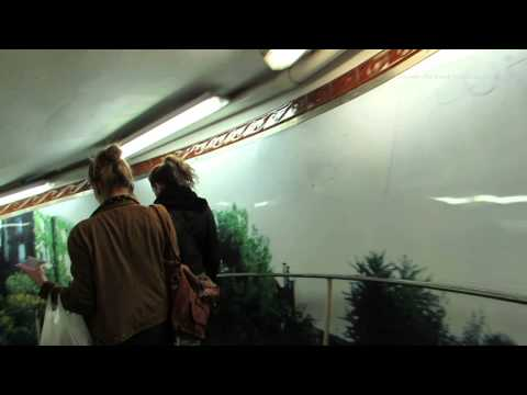 Walk around Abbesses Art Nuevo Metro Station in Paris