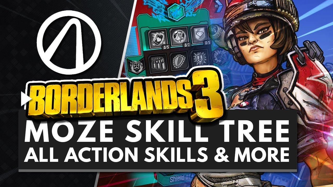 BORDERLANDS 3   All MOZE Action Skills, Perks & Abilities Gameplay + Full  Skill Tree Breakdown