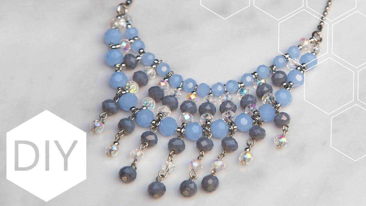 Bekend DIY sieraden maken met Kralenhoekje - Statement ketting - YouTube &XD59