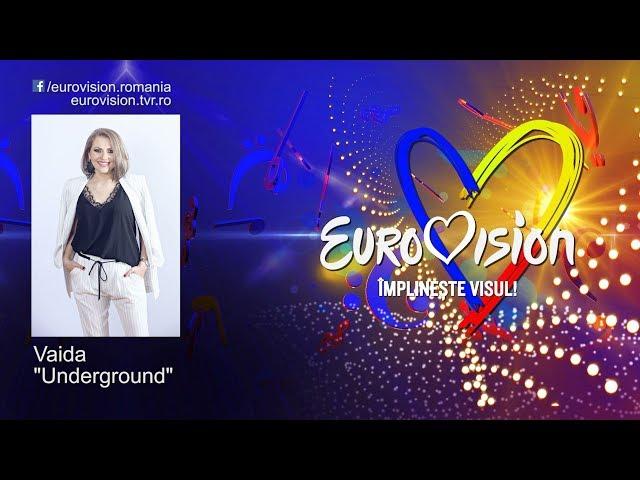 Vaida - Underground   Eurovision România 2019