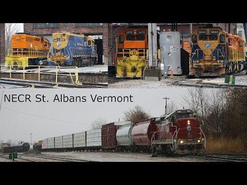 3844 EMD GP38 Turntable Drehscheibe NECR Rail Freight SD9 1750 USA St. Albans Vermont