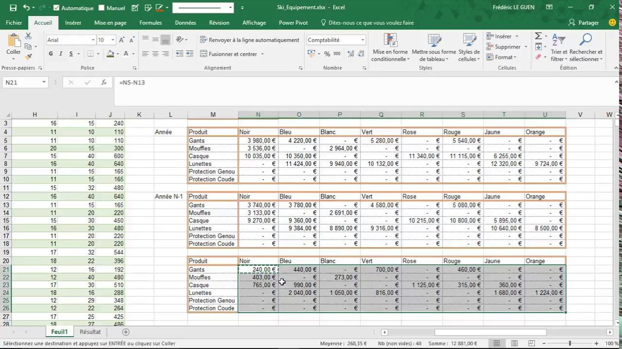 Excel feuille de datation