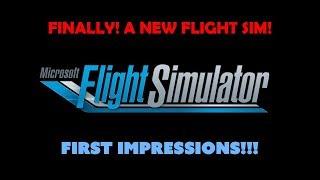 NEW Microsoft Flight Simulator! LIVE REACTIONS! XD