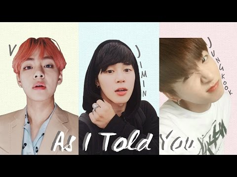 BTS V X Jimin X Jungkook - 'As I Told You' [2016 MBC Gayo Daejejeon] [Han|Rom|Eng Lyrics]