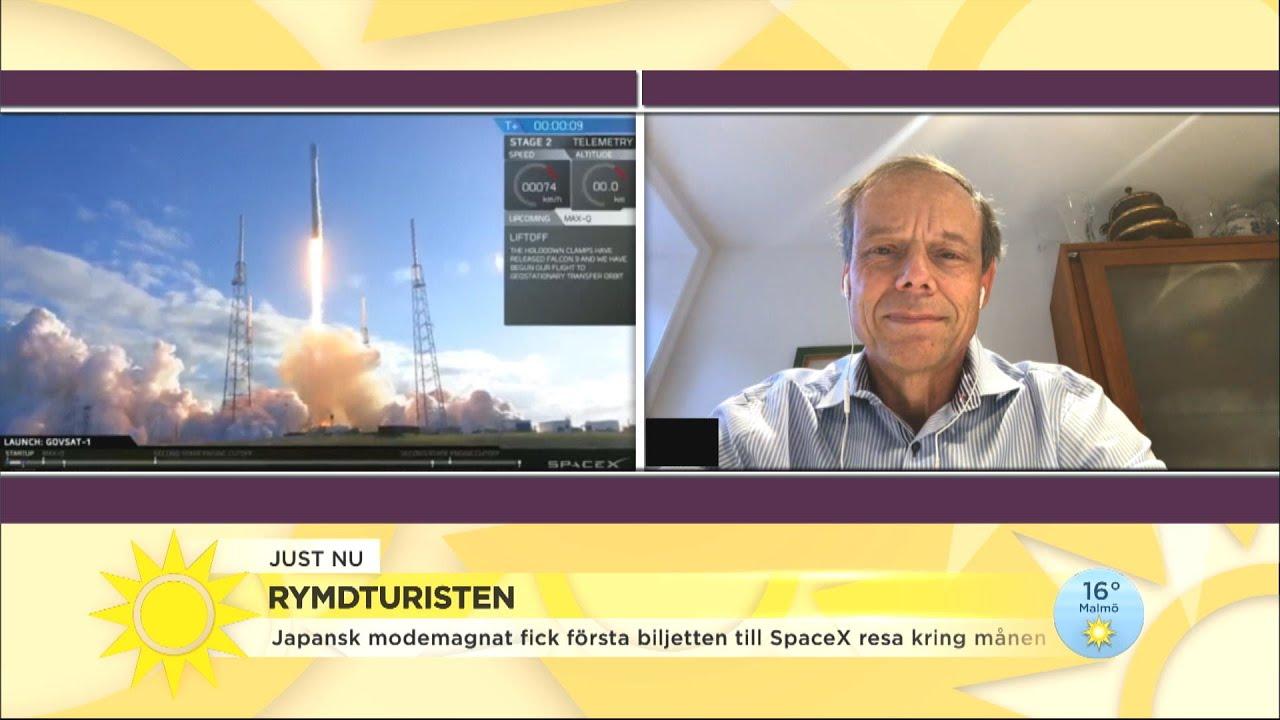 """Fuglesang: """"Rymdturisten kommer få se fantastiska vyer och sväva i tyngdlöshet"""" - Nyhetsmorgon (TV4)"""