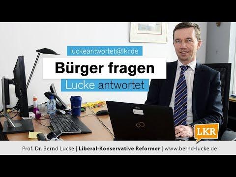 Bürger Fragen - Lucke Antwortet: Zur Leistung Der Gesetzlichen Krankenkassen (Folge 13, 17.03.2018)