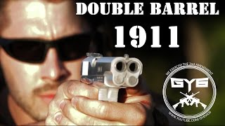 double barrel 1911  slow motion