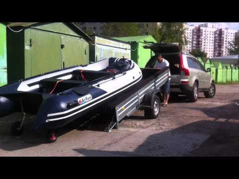 Универсальный прицеп для перевозки лодки ПВХ