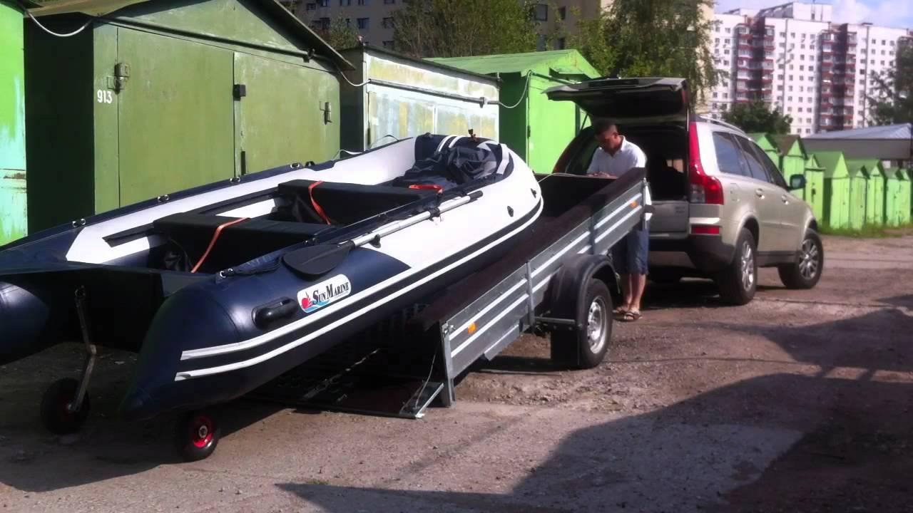 Как сделать прицеп для лодки пвх