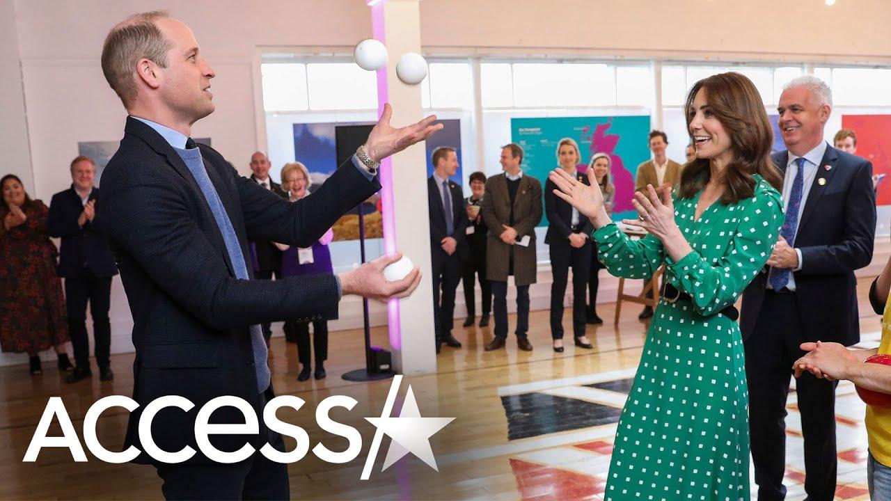 Kate Middleton Kicks Soccer Ball After Giggling Over Prince William's Juggling