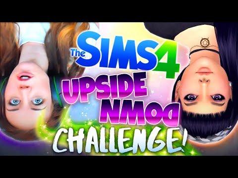 UPSIDE DOWN CHALLENGE!? - SUPER CREEPY! 😰 (The Sims 4 CAS)