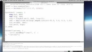 Make a sample player & audio visualizer in Supercollider and Processing