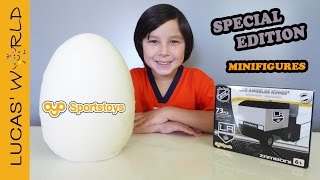 Giant OYO Sports PLAY-DOH Surprise Egg with Special Minifigures & ZAMBONI Set Review | Lucas World