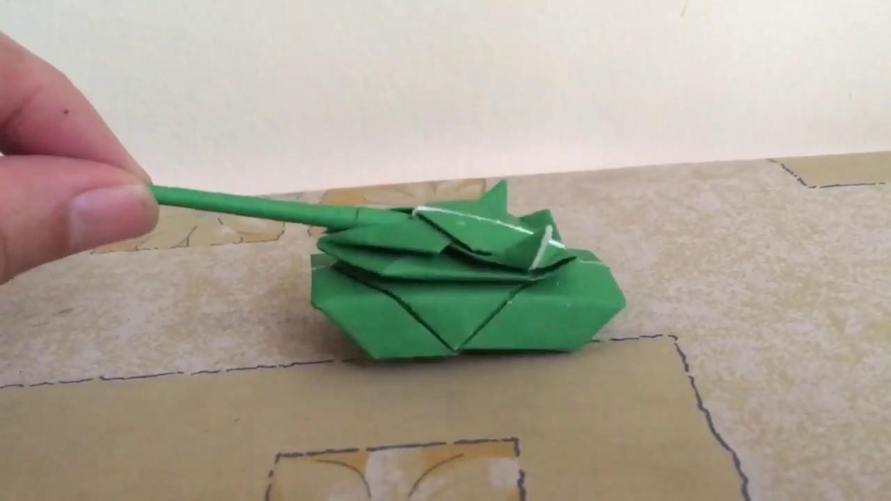🥰 Xe tăng giấy- cách gấp đơn giản( origami)