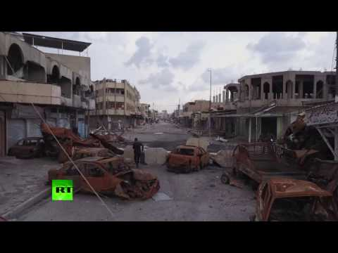 Shattered city: Western Mosul destruction in drone footage