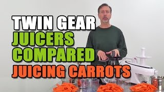 3 Twin-Gear Juicers Compared Juicing Carrots