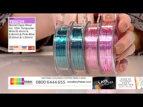 Fancy Jasper and Sapphire for jewellery making: JewelleryMaker late show LIVE 25/02/2015