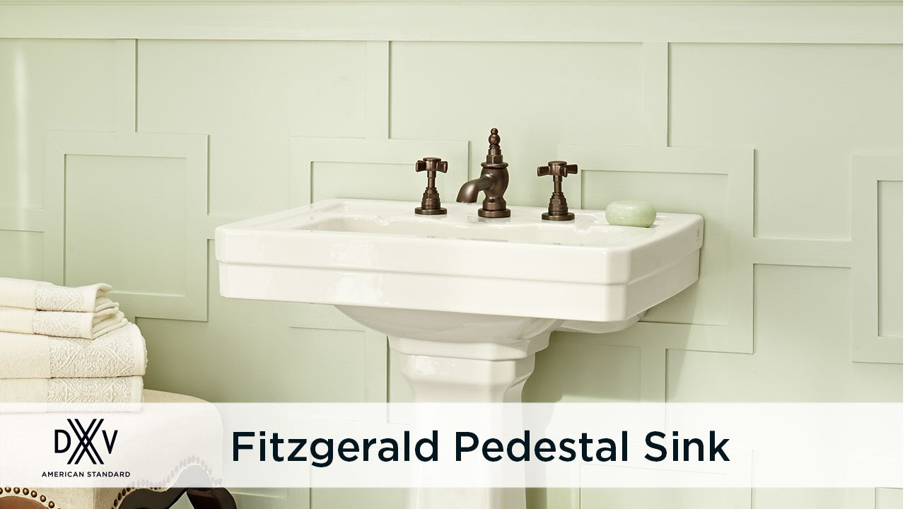 Fitzgerald 24 Inch Pedestal Sink by DXV - YouTube