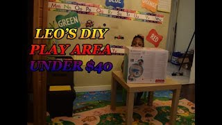 DAY IN OUR LIFE  VLOG #17 LEO DIY PLAY AREA UNDER $40
