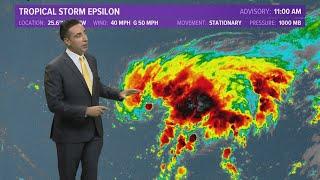 Tropics Update: Tropical Storm Epsilon forms in the Atlantic