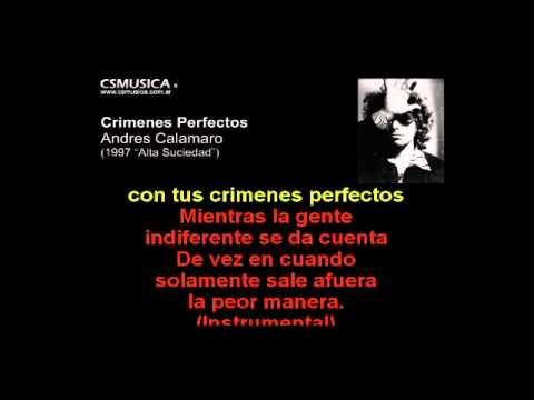 Andres Calamaro   Crimenes perfectos   Karaoke