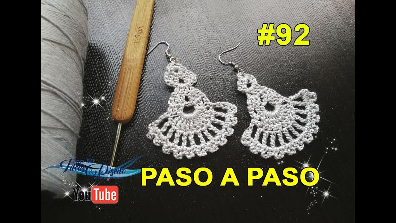 DIY, Como hacer Aretes en crochet #92 Paso a paso!!