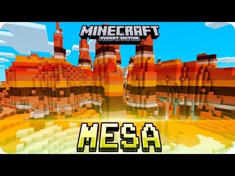 Minecraft PE Seeds - Large Village & Mesa Biome Seed - 1.2 / 1.1 MCPE